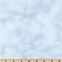 108'' Wide Mottled Flannel Blue Sky Fabric