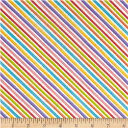 Loralie Designs Blossom Bias Stripe White