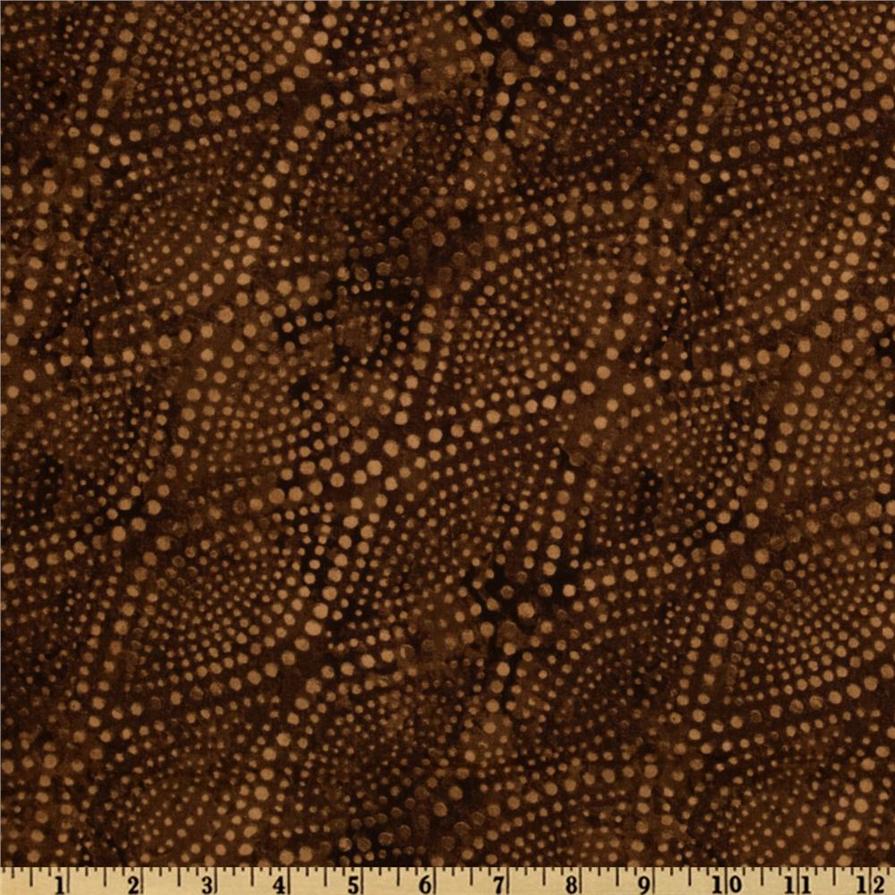 108''  Wide Diagonal Dots Quilt Backing Chocolate Brown