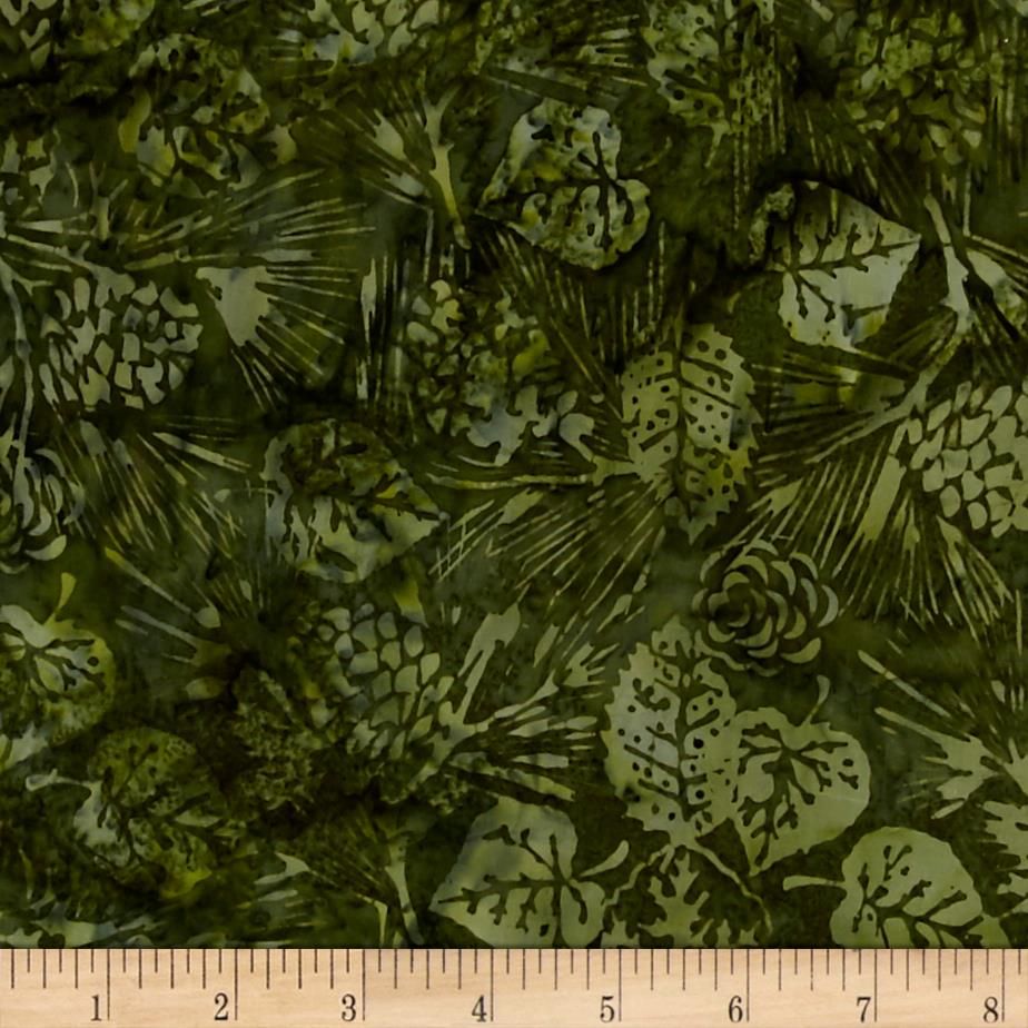 Island Batik Holiday Happenings Pine/Aspen Green