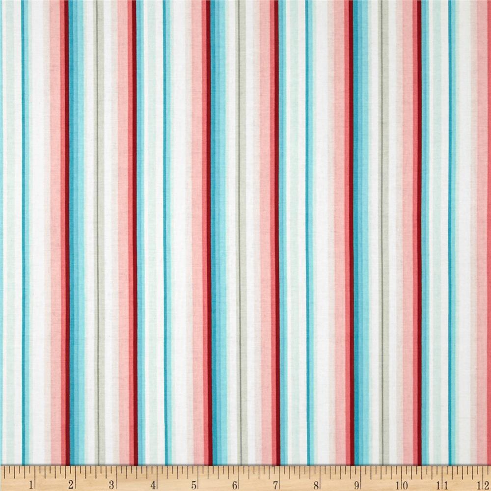 Primrose Sands Stripe White/Red/Blue