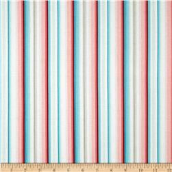 Primrose Sands Stripe White/Red/Blue Fabric
