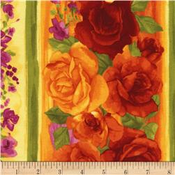 Timeless Treasures Rosa  Rose Stripe