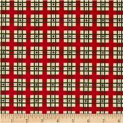 Holly Days Greetings Plaid Green/Red