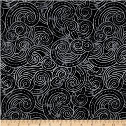 Essential Dotty Waves 108'' Wide Quilt Back Black