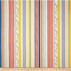 My World of Smiles Friendly Stripe Bright Fabric