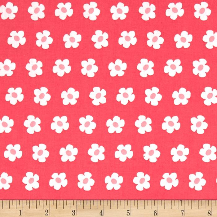 Robert Kaufman Whatever The Weather Daisy Hot Pink