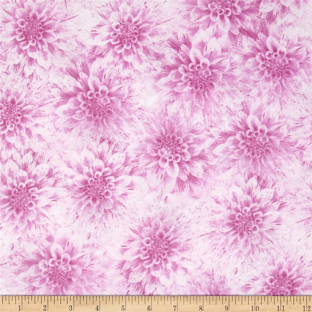 Shades of Dahlias Floral Texture Light Magenta