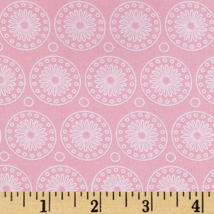 Riley Blake Willow Organic Medallion Pink