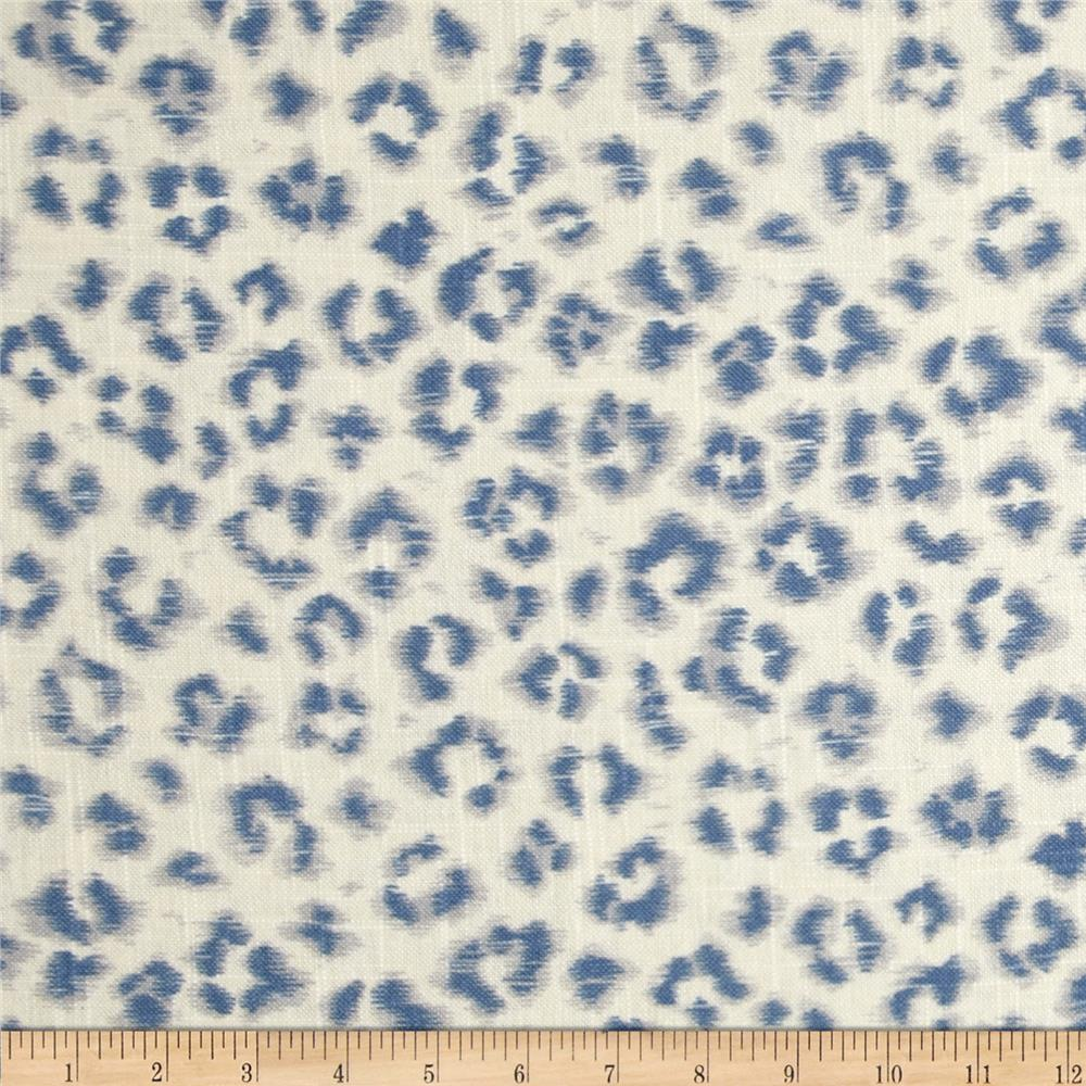 Fabricut 02100 Animal Print Blend Denim