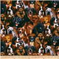 Flannel Dogs Multi/Natural