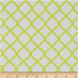 Bella Quatrefoil Flannel Sunshine White/Sunshine Yellow