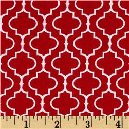 Metro Living Tile Red Fabric