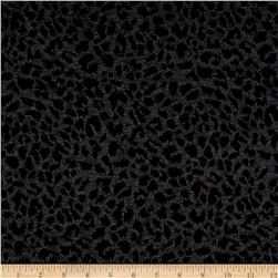 Double Knit Jacquard Leopard Black/Charcoal
