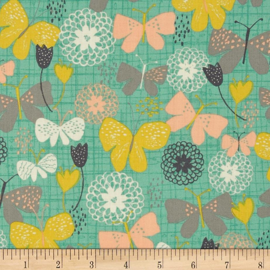 Bloom Butterflies & Stencil Floral Green