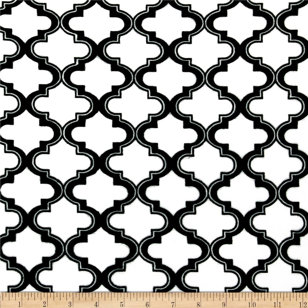 Minky Moroccan Tile White