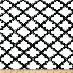 Minky Moroccan Tile White Fabric