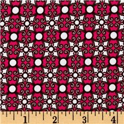 Laguna Stretch Cotton Jersey Knit Small Tile Hot Pink