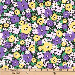 Kaufman Flora Flower Bunch Purple