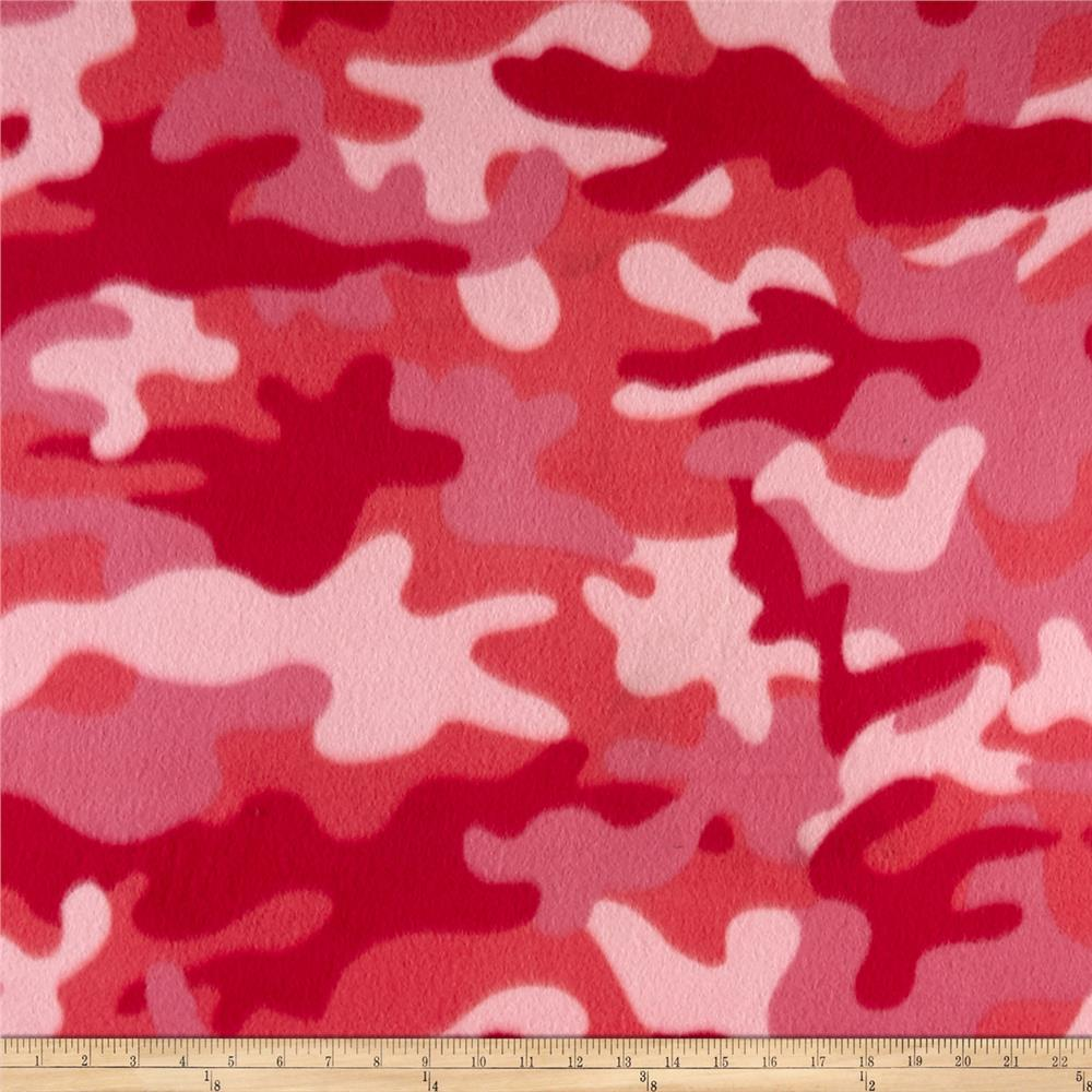 Camouflage Fleece Camo Red/Pink