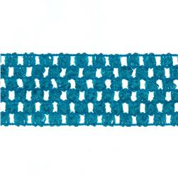"1 3/4"" Crochet Headband Trim Light Blue"
