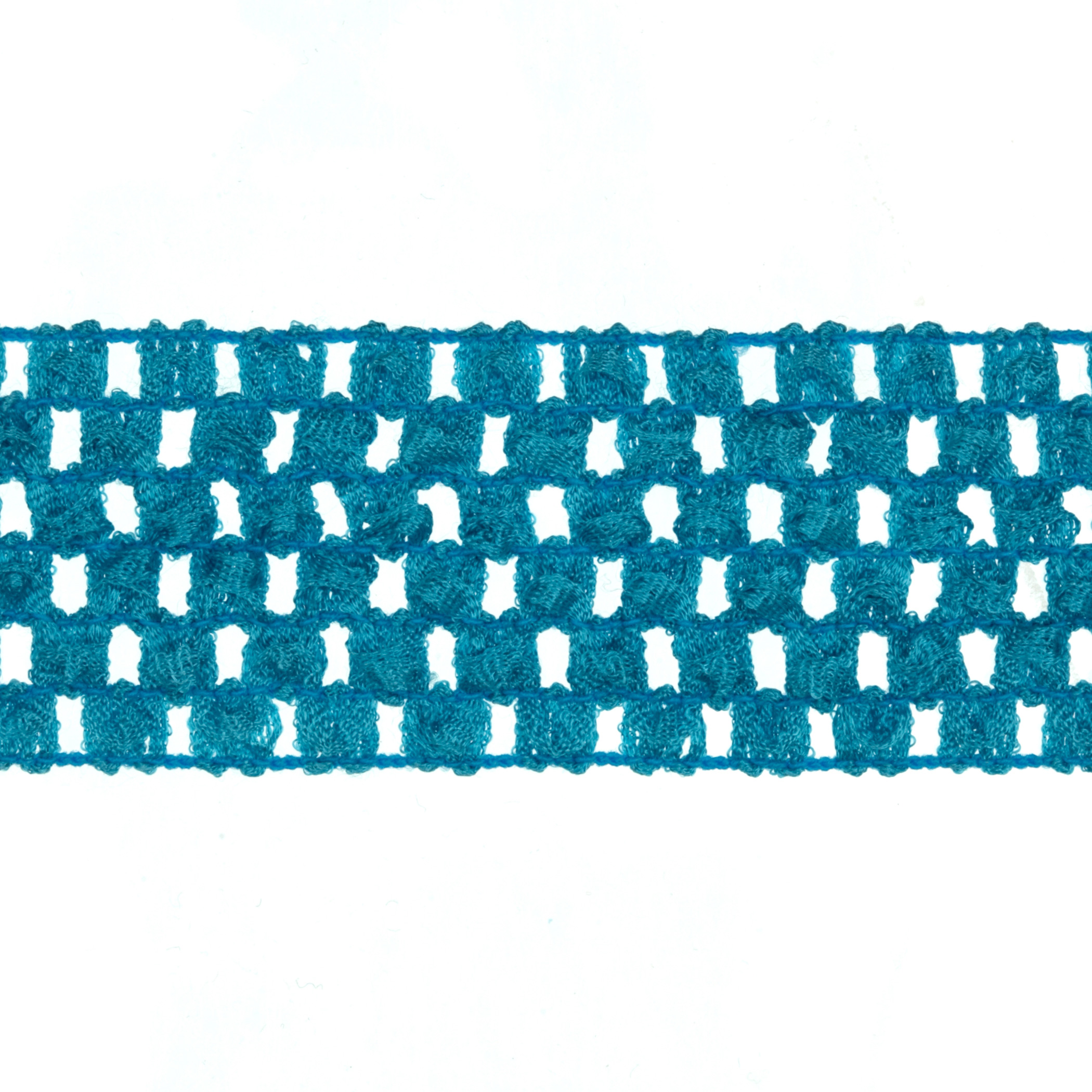 1 3/4'' Crochet Headband Trim Light Blue Fabric