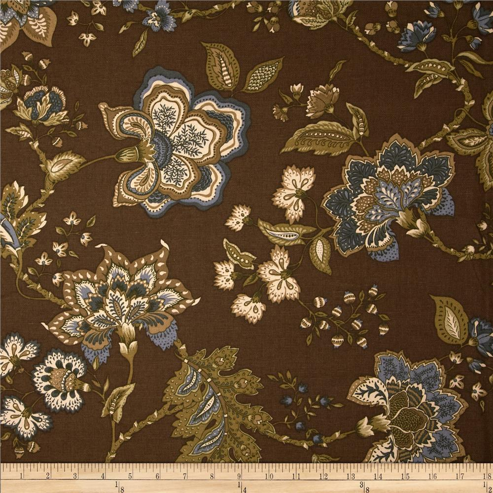 Duralee Giverny Floral Blend Brownstone