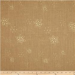 60'' Sparkle Snowflake Burlap Natural Fabric