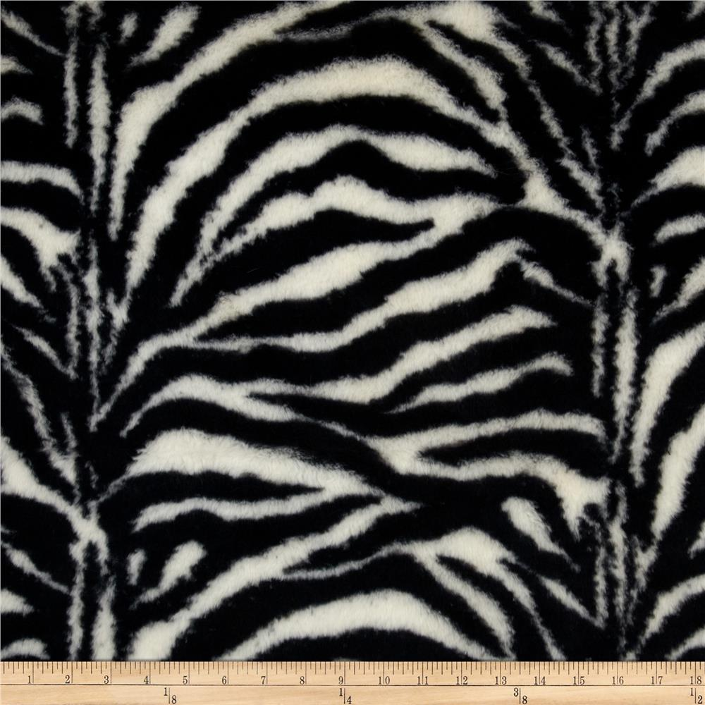 Shannon Luxury MInky Cuddle Fuzzy Zebra Black/Off White