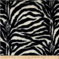 Luxury MInky Cuddle Fuzzy Zebra Black/Off White