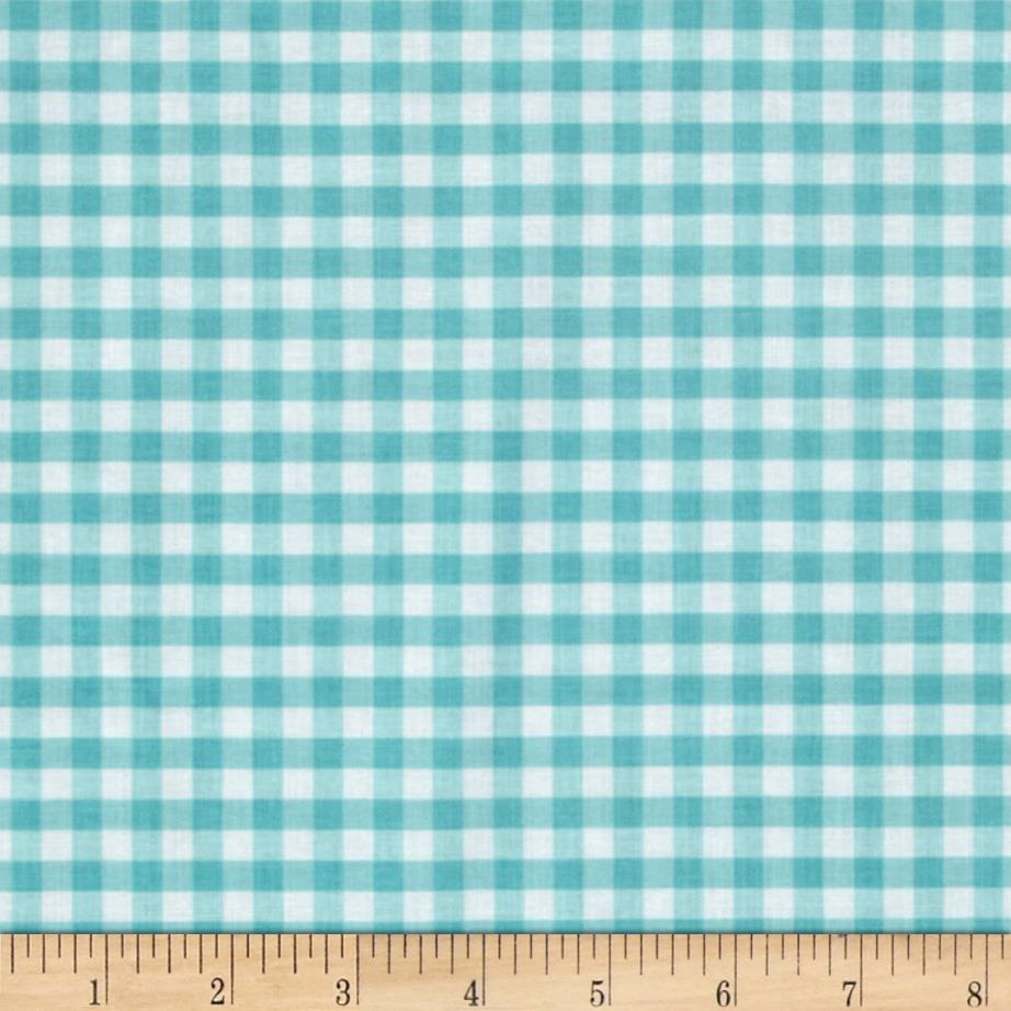 Riley Blake Medium Gingham Aqua