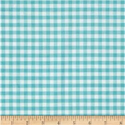 Riley Blake Medium Gingham Aqua Fabric