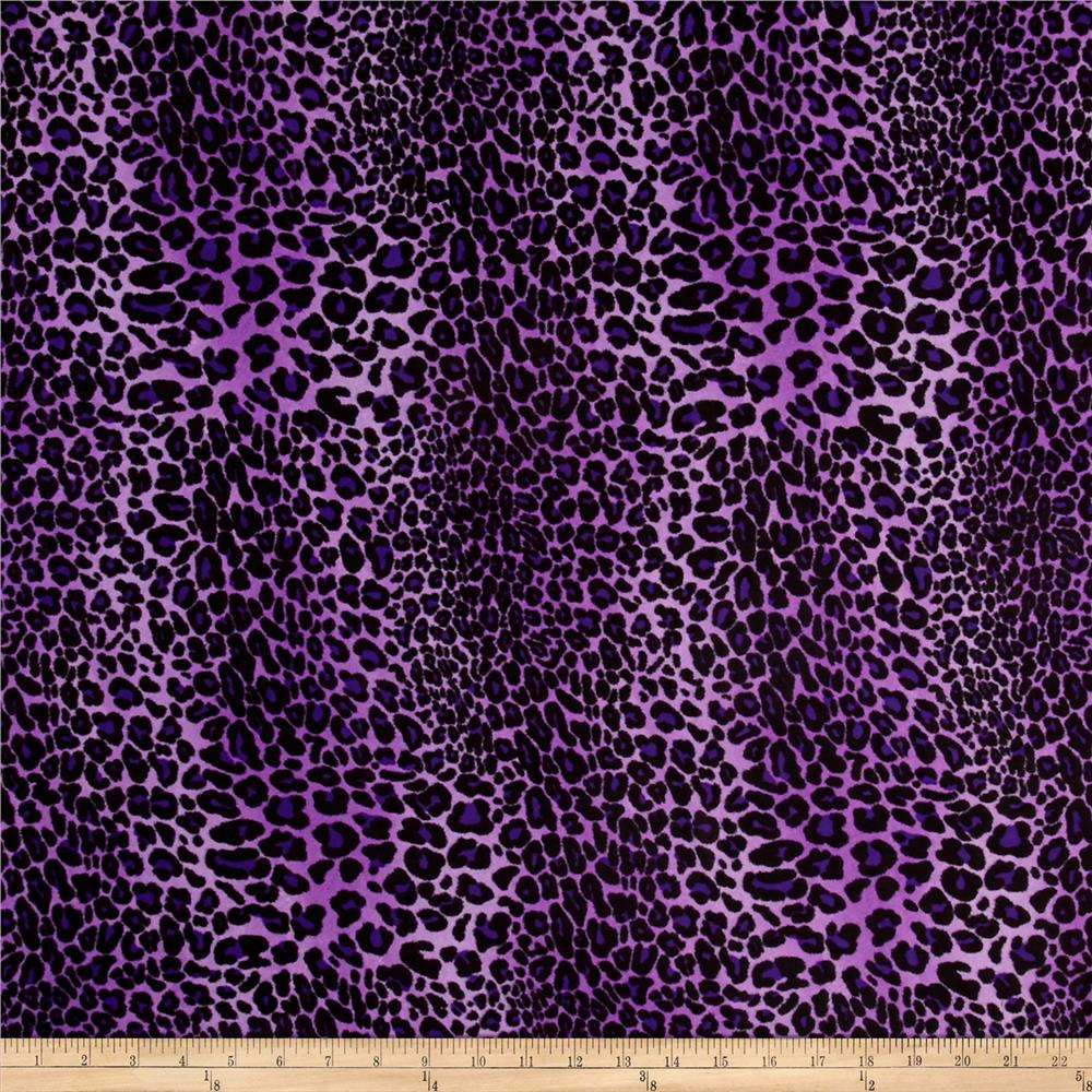 Chiffon leopard print purple discount designer fabric for Apparel fabric