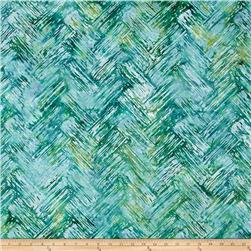 Bali Batiks Handpaints Chevron Brush Dewdrop