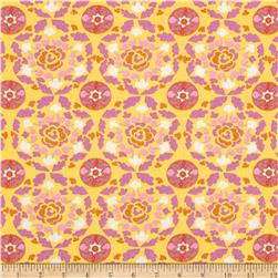 Dena Designs Sunshine Linen Blend Circle Yellow Fabric