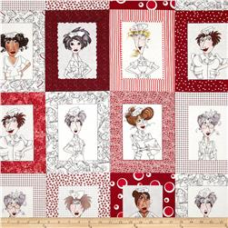 Loralie Nifty Nurses Panel Red/Black