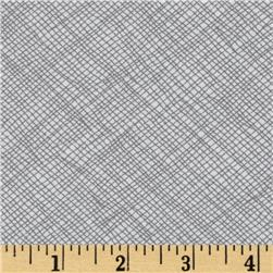 108'' Wide Quilt Backing Widescreen Grid Grey Fabric