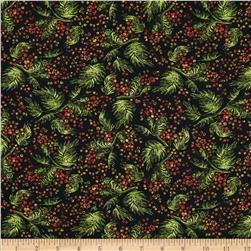 Harvest Time Fern & Berry Black