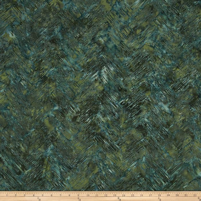 Bali Batiks Handpaints Chevron Brush Rosemary