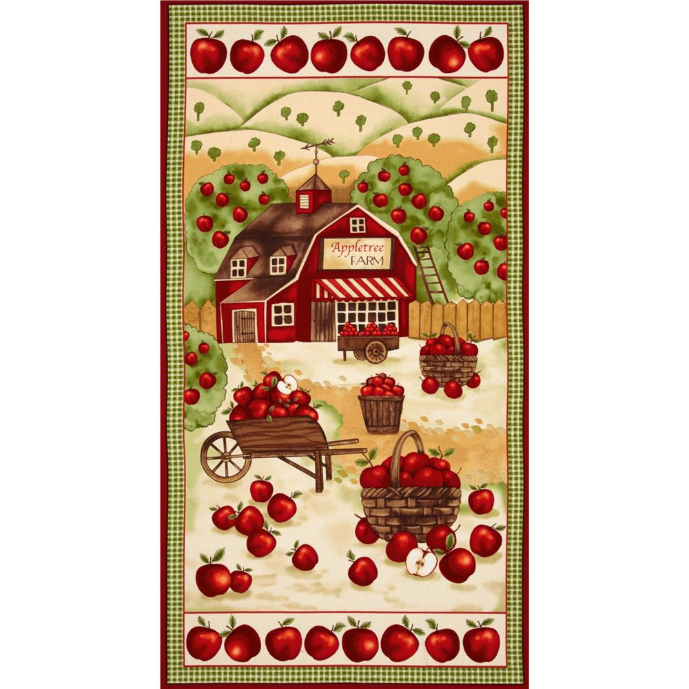 Timeless Appletree Farm Panel Barn Scenic Red