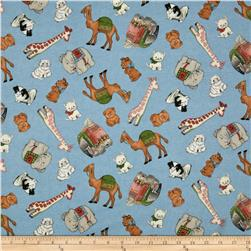 New Paper Dolls Tossed Pets & Other Animals Light Blue