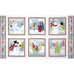 Holiday Cheer Panel White/Grey