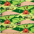 John Deere Nursery Farm Animal Scenic Green
