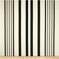 P Kaufmann Indoor/Outdoor Hugo Stripe Ebony Fabric