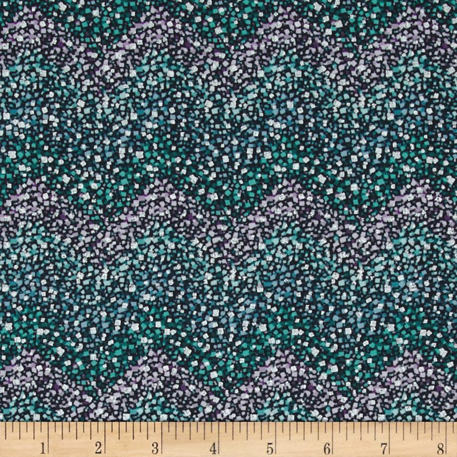 Winter's Grandeur Matallic Geo Chevron Sparkle Winter