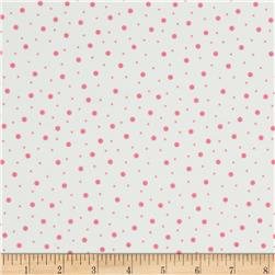 Kimberbell Little One Flannel Too! Flannel Random Dots White Pink