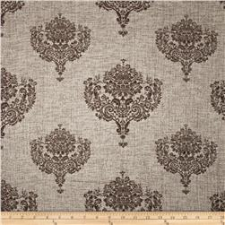 KasLen Allesio Metallic Damask Jacquard Natural