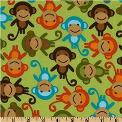 Urban Zoologie Monkeys Bermuda Fabric