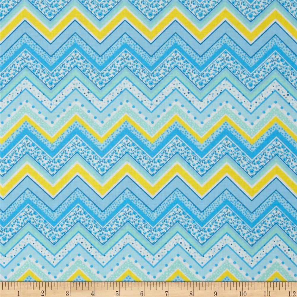 Patterned Chevron Aqua