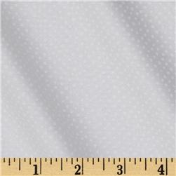 Mini Confetti Dot White Fabric